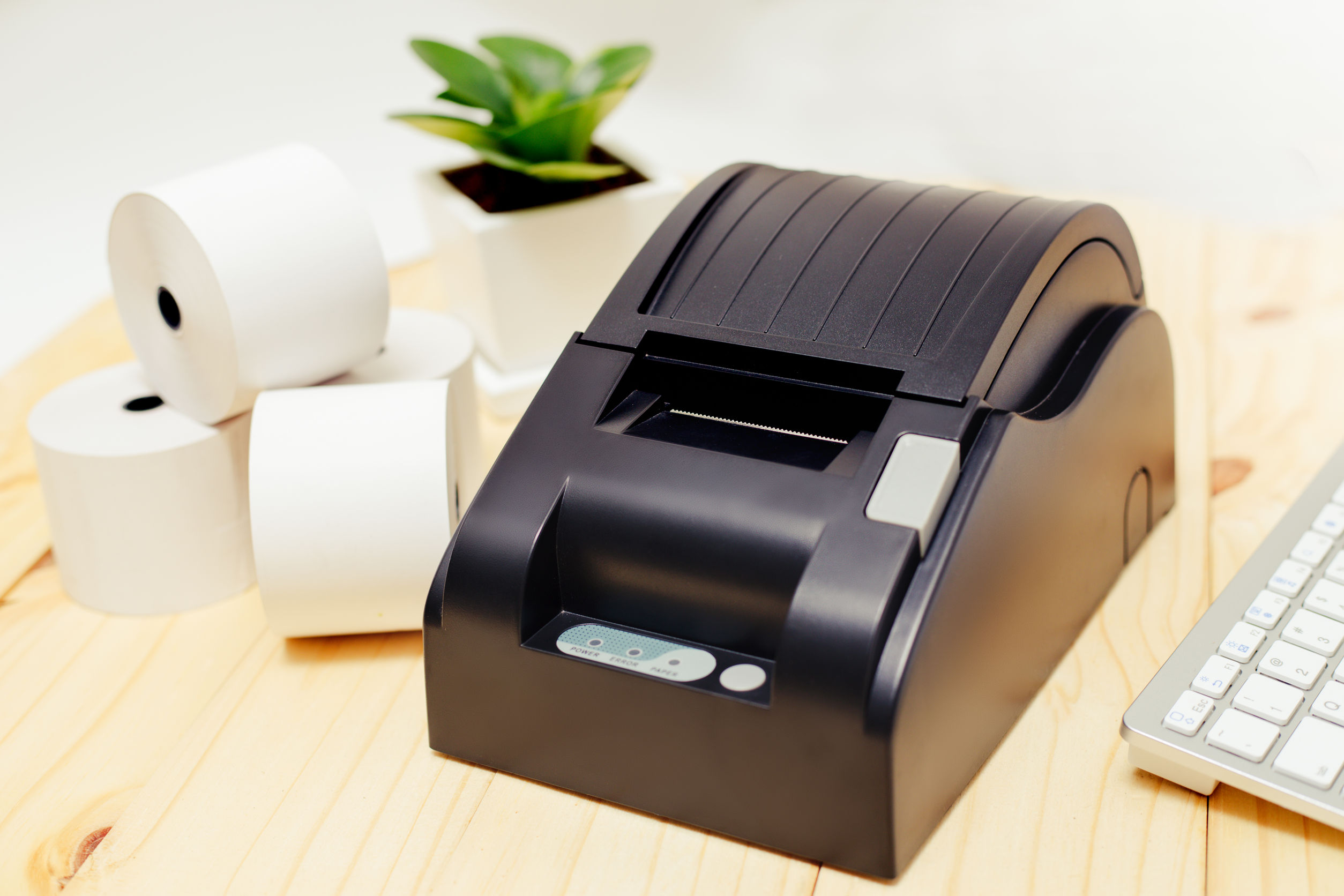 Office equipment, receipt printing