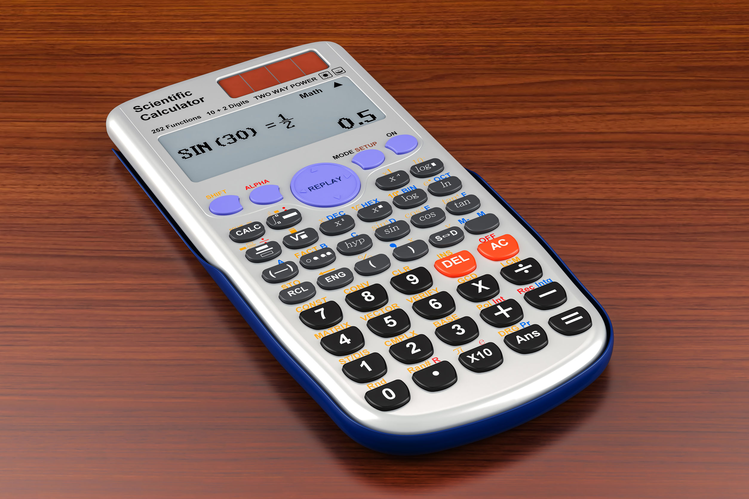wetenschappelijke rekenmachine op tafel