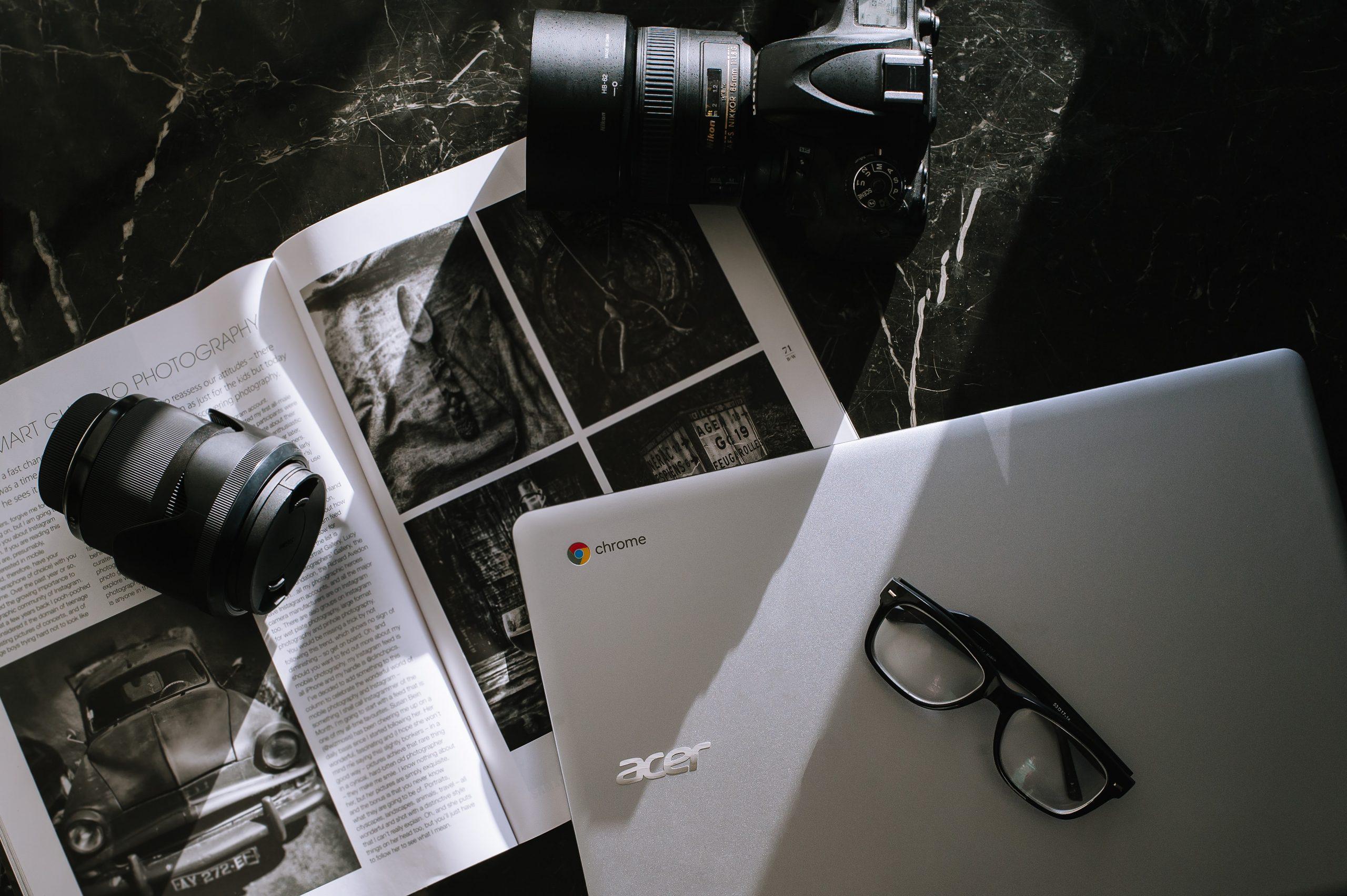 Chromebook en een camera