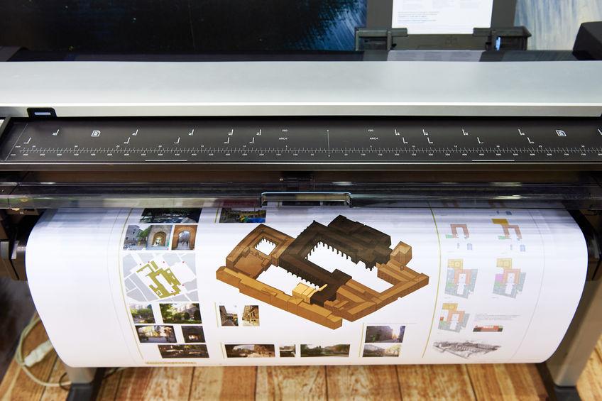 plannen afdrukken op grote printer