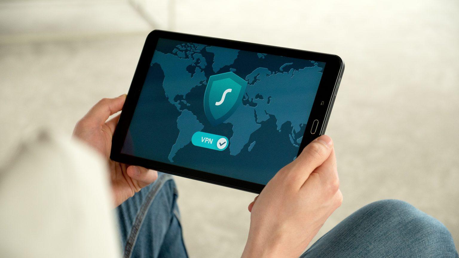 tablet met behulp van een vpn-service