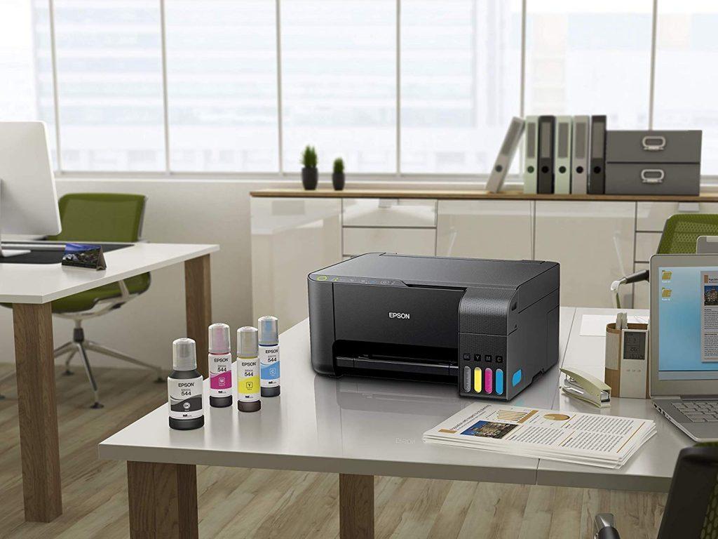 Imagem de uma impressora Epson.