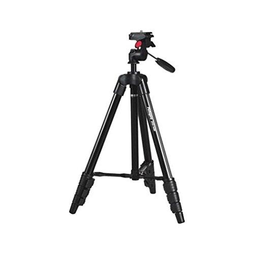 Rollei Compact Traveler Star S1 - compact videostatief van aluminium met tot 2 kg draagvermogen, incl. statiefkop en snelwisselplaat - zwart