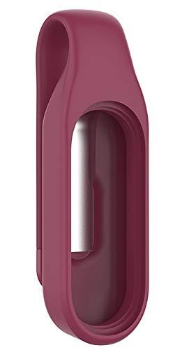 NEO+ Clip houder compatibel met Xiaomi Mi Band 3 en Xiaomi Mi Band 4, vervanging van riemen. Bordeauxrode kleur.