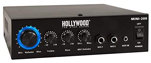 Holywood The Starsound HiFi-versterker, mini-200, met bluetooth, 230 V of 12 V, 100 W, hifi-eindversterker
