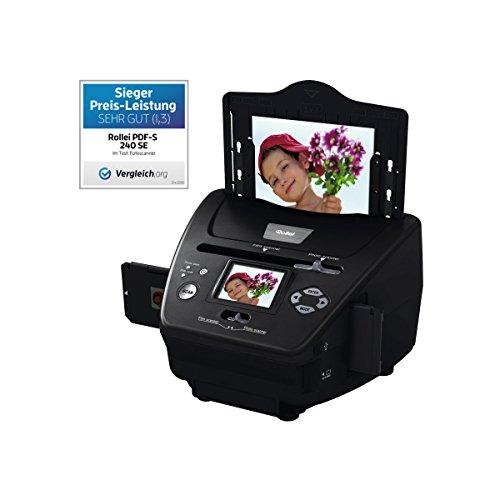 Rollei Dia DF-S 100 SE Film Scanner - met 5 megapixel en 2,4 inch kleur-TFT-LCD-display en uitgebreide accessoires, voor geheugenkaarten tot 16 GB, PDF-S 240, zwart