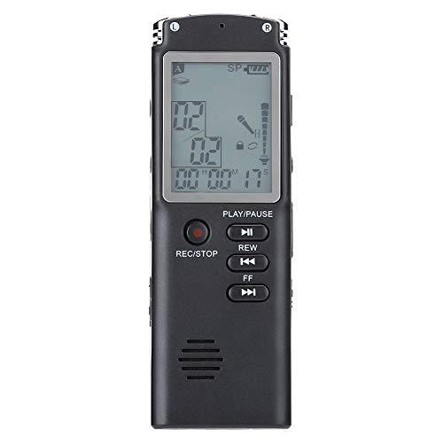 Digitale spraakrecorder, WAV/MP3-formaat audio Geluidsrecorder en digitale dictafoon, draagbaar HD spraakgestuurd recorderapparaat voor lezingen, vergaderingen, interviews, lesgeven(8 GB)