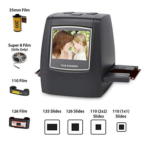 DIGITNOW! Dia Film Scanner (film/slide, super 8 films, 35 mm en 110,126, SD-/MMC-kaartsleuf, USB 2.0 interface, wisselstroom, 22 MP, CMOS