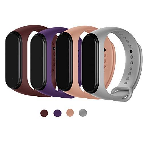 Maspen Strap voor Xiaomi Mi Band 4/Mi Band 3 Strap, Zachte Siliconen Vervanging Strap Polsband HorlogeBand Accessoires voor Xiaomi Mi Band 3/4
