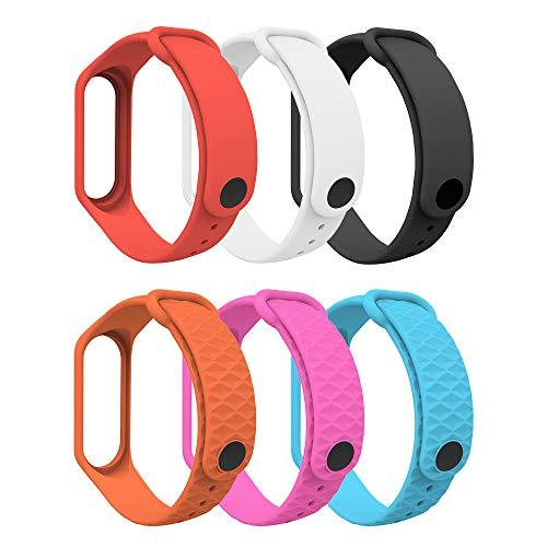 MoKo Armband compatibel met Xiaomi Mi Band 3/Mi Band 4, zachte TPU reserveband horlogeband sport vervanging fitness armband polsband voor Xiaomi Mi Band 3/Mi Band 4 - meerkleurig B