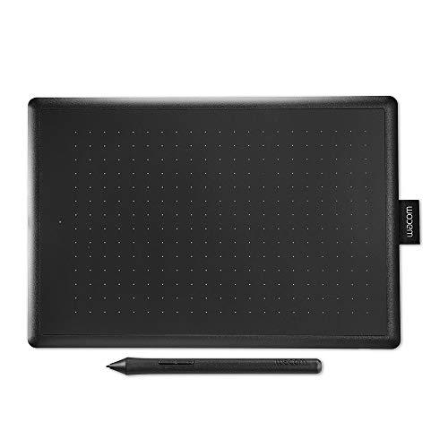Wacom CTL-672-N pendienblad met drukgevoelige pen, compatibel met Windows en Mac, maat M zwart/rood
