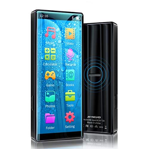 MYMAHDI MP3-speler, hoge resolutie en vol touchscreen, verliesvrije HiFi-sound-speler met Bluetooth 5.0, FM-radio, spraakopname, ondersteunt tot 128 GB zwart