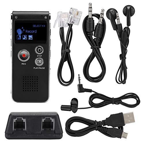 Spraakrecorder, 8 GB USB digitale spraakrecorder Draagbare audiorecorder Lossless muziek MP3-speler voor dictaten, lezingen en vergaderingen