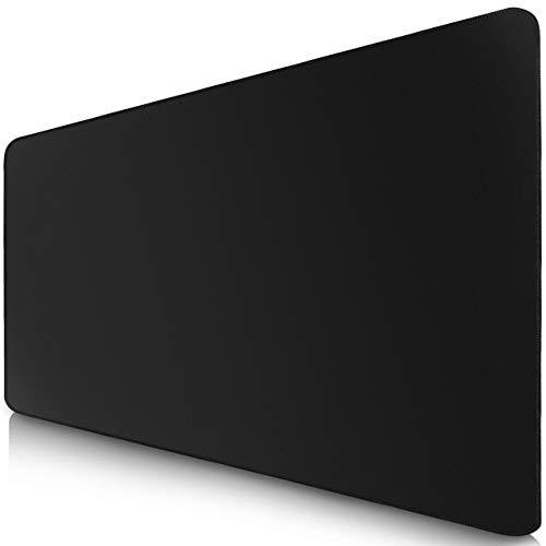 Sidorenko XXL Gaming Muismat - 900 x 400 mm - randloze randen - anti-slip - XXL verlengde Mouse Pad - bureauonderlegger - speciaal oppervlak verbetert snelheid en precisie - zwart