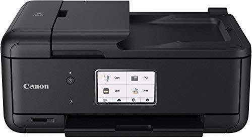 Canon Pixma TR8550 All-in-One kleureninkjetprinter, multifunctioneel apparaat (printer, scanner, kopieerapparaat, fax, USB, WiFi, Apple AirPrint) zwart 5 inkt. A4 zwart