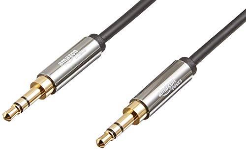 Amazon Basics AUX 3,5 mm stereo-audiokabel, 1,2 meter - 2 stuks per verpakking