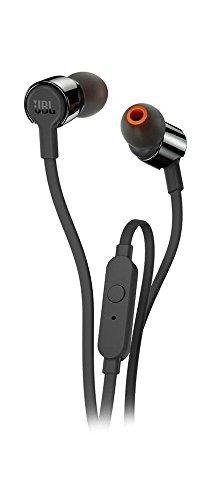 JBL T210 In-Ear hoofdtelefoon, oortelefoon met 1-knops afstandsbediening en geïntegreerde microfoon, compatibel met Apple en Android-apparaten, zwart
