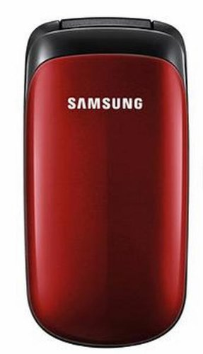 Samsung E1150 mobiele telefoon (extra lange batterijduur) robijnrood