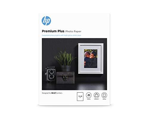 HP Premium Plus-fotopapier, glanzend, 300 gr/m2, 13x18cm, 20 vellen