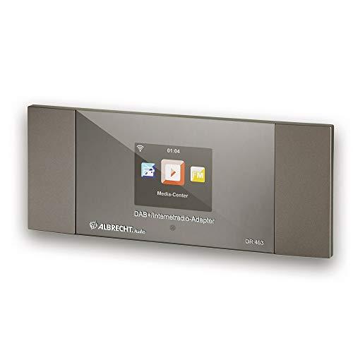 Albrecht DR463 internetradio/DAB+ adapter voor het achteraf inbouwen van radio's en stereo-installaties, ontvangt muziek via Bluetooth®, WLAN, DAB+