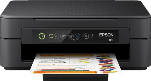 Epson Expression Home XP-2100 Multifunctioneel 3-In-1 Inkjetprinter, Printer, Scanner, Kopieerapparaat, Wifi, Afzonderlijke Patronen, 4 Kleuren, Din A4, Geschikt voor Amazon Dash Replenishment, Zwart