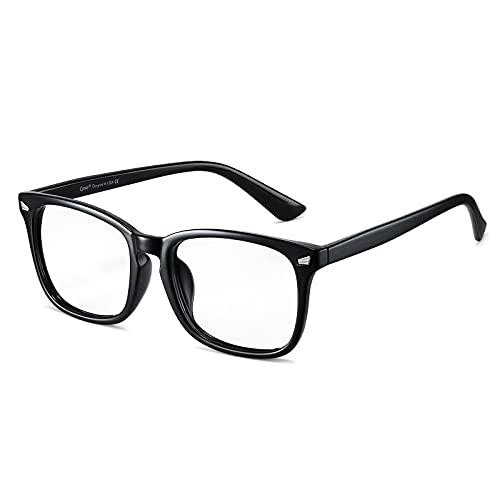 Cyxus Blauw Licht Filter Bril Heren/Dames, UV-bril Tegen Hoofdpijn, Vermoeidheid Van de Ogen, Gaming Computerbril voor PC TV Tablet Unisex(8082-Zwart)