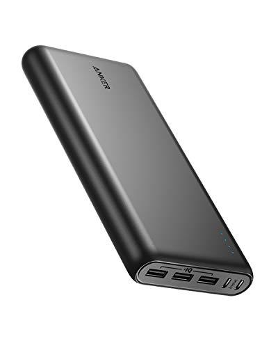 Anker PowerCore 26800mAh Power Bank Externe Batterij met Dubbele Input Oplaadpoort, Dubbel Snel Oplaadbaar, 3 USB Poorten voor iPhone XR/XS/X / 8 / 8Plus / 7, Samsung Galaxy en meer (Zwart)