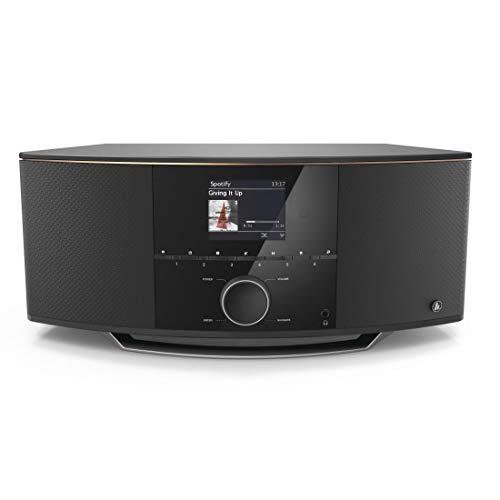Hama IR150MBT, internetradio met 2.1 geluidssysteem (stereo 90 watt RMS, Bluetooth/USB/AUX, Spotify, kleurendisplay, afstandsbediening, gratis app, radio-wekker) WLAN-radio