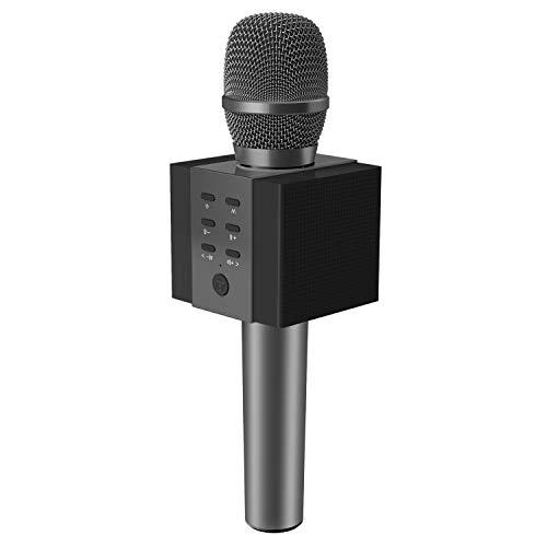 TOSING 008 Draadloze Bluetooth-karaokemicrofoon, 3-in-1 draagbare handheld karaoke-microfoon Nieuwjaarsgeschenk Home Party Verjaardag Luidsprekermachine voor Android/pc en smartphones. (zwart)