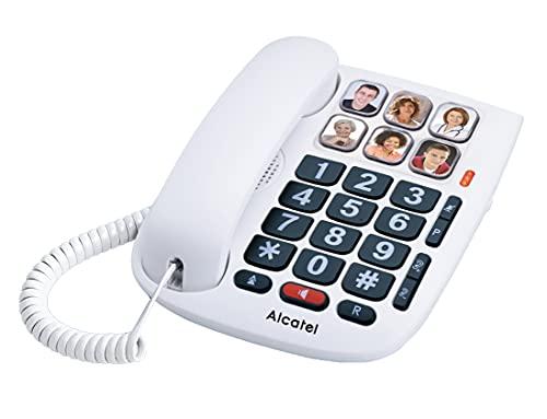 Alcatel Tmax 10 Kabel Gebonden Telefoon voor Senioren, Wit, 1 Stuk