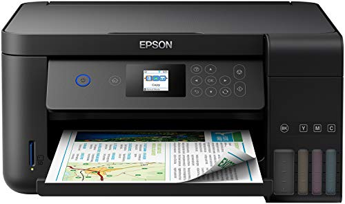 Epson EcoTank ET-2750 3-in-1 inkjet multifunctioneel apparaat (kopieerapparaat, scanner, printer, A4, dubbelzijdig, WiFi, display, USB 2.0), grote inkttank, groot bereik, lage kosten per pagina, zwart