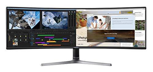 Samsung C49RG94SSU Curved Gaming Monitor (1440P, 120 Hz), 49 Inch, Zwart