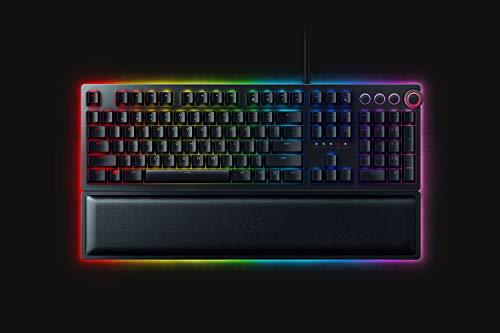 Razer Huntsman Elite (Switch Scatto) - Premium gaming toetsenbord met geëvolueerde Opto-Mechanical switch (Key stabilizer bar, Polssteun) QWERTY   US-Layout, Zwart