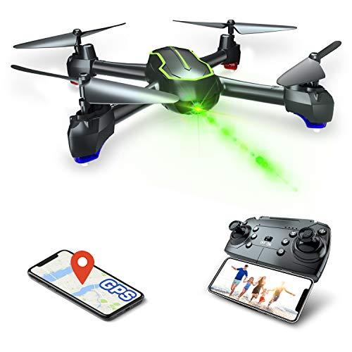 GPS drone met HD 4K camera voor beginners, quadrocopter RC drone FPV met GPS-functie 4K / 32 minuten vliegtijd / opvolger functie (twee batterijen)