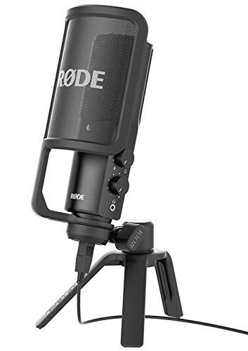 Rode NTUSB studiokwaliteit USB-condensatormicrofoon met tafelstatief en popbescherming