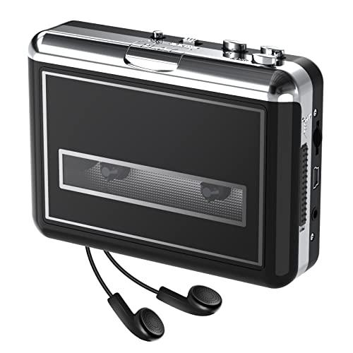 Rybozen Cassettespeler, draagbare Walkman & converteren van cassettes naar MP3, converter, software (AudioLava, evt. niet beschikbaar in het Nederlands)