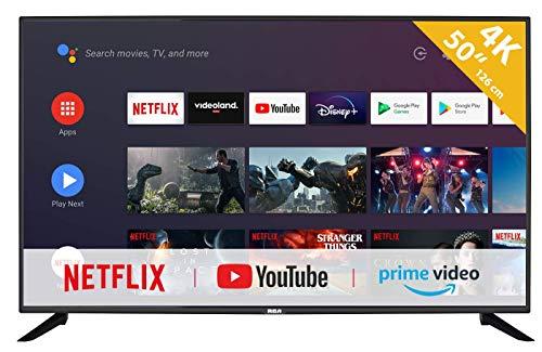 RCA RS50U2 Android TV (50 inch 4K Smart TV met Google Assistant), ingebouwde Chromecast, HDMI, USB, WiFi, Bluetooth, Triple Tuner (DVB-C / -T2 / -S2)