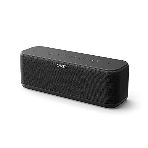 Anker SoundCore Boost Bluetooth luidspreker, 20 W bluetooth-luidspreker met bassuptechnologie, IPX5 waterbestendig, 12 uur speelduur en 20 m bereik, dubbele drivers voor uitstekende geluid en bas