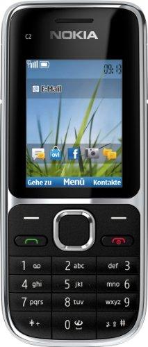 Nokia C2-01 Mobiele telefoon (zonder branding, 5,1 cm (2 inch), 3,2 megapixel camera) zwart