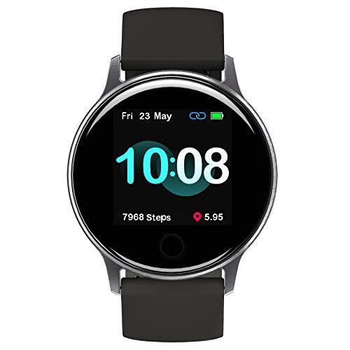UMIDIGI Smartwatch Uwatch 2S, Fitness Tracker Horloge met Vrij te Kiezen Achtergrondafbeelding, 5 ATM Waterdicht Smartwatch met Hartslagmeter, Stopwatch, Stappenteller, Slaapmonitor voor Dames en Heren, Zwart