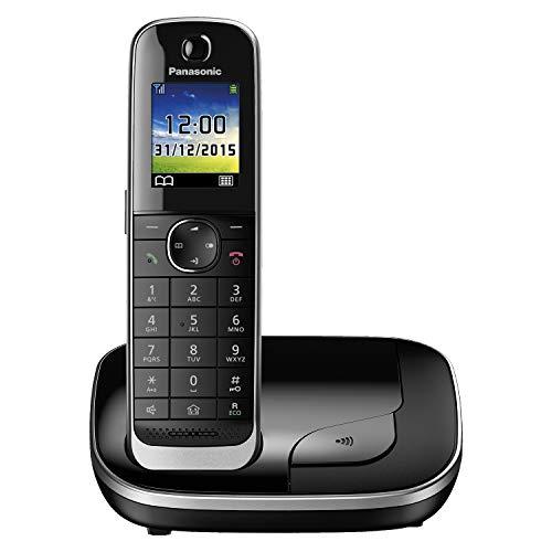 Panasonic KX-TGJ310GB familie telefoon zonder antwoordapparaat (draadloze telefoon, stralingsarm, telefoonbescherming, DECT basisstation, handsfree) zwart