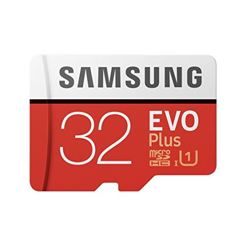 Samsung MB-MC32GA/EU EVO Plus MicroSD Geheugen Kaart Inclusief Adapter, 32GB, Rood/Wit