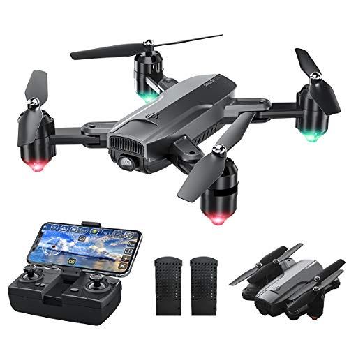 Dragon Touch Drone met camera, 1080p HD, 120° groothoek, duurzaam, RC quadrocopter met wifi, FPV live overdracht, tap fly/follow me/hoogtebehouden/zwaartekrachtsensor/headless modus voor beginners