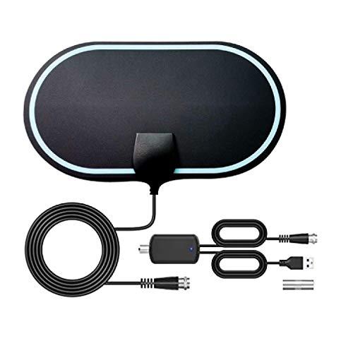 KafooStore Indoor TV-antenne, TV-antenne, antenne voor digitale Freeview met signaalversterker, 200KM bereik, Ultra HD Freeview-antenne, HDTV, 4K 1080P