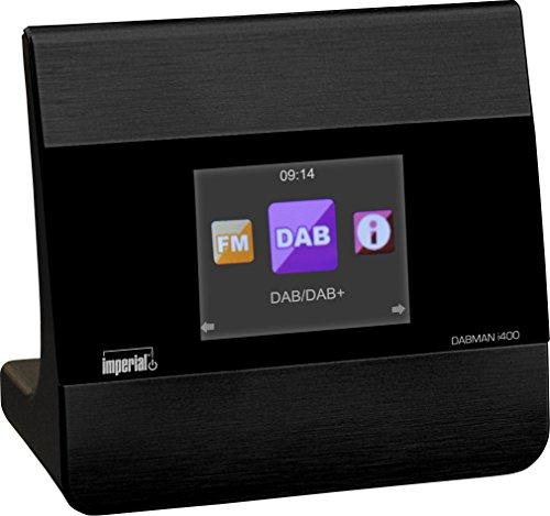 Imperial 22-241-00 Dabman i400 Internet-/DAB+ Radio (Stereo Sound, Internet/DAB+/DAB/UKW, Bluetooth, multiroom, equalizer, UPnP-audio streaming, WLAN, LAN, LAN, line-out incl. voeding) zwart