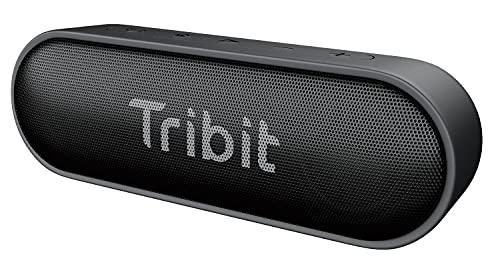 Tribit XSound Go Bluetooth-luidspreker, draagbare luidspreker, IPX7, waterdicht, 12 W, draadloze luidspreker met bas+, 24 uur speeltijd, 20 m bluetooth-bereik (Black)