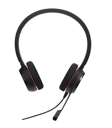 Jabra Evolve 20 MS Stereo Professionele VoIP-Softphone Headset, Zwart