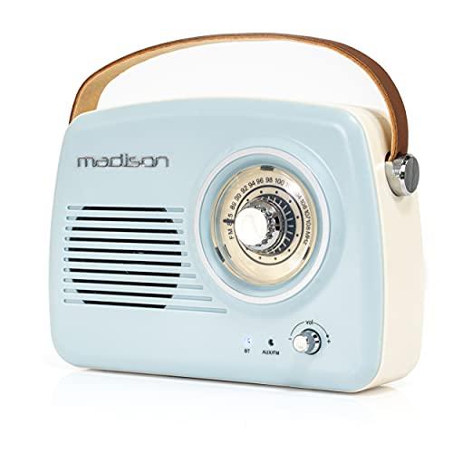 Madison - FREESOUND-VR30 - Draagbare nostalgische radio met Bluetooth en FM 30 W