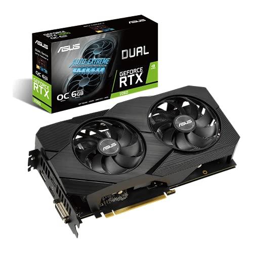ASUS Dual GeForce RTX 2060 OC EVO Edition 6 GB GDDR6 Gaming grafische kaart met twee krachtige axiaal-tech fans (DUAL-RTX2060-O6G-EVO)
