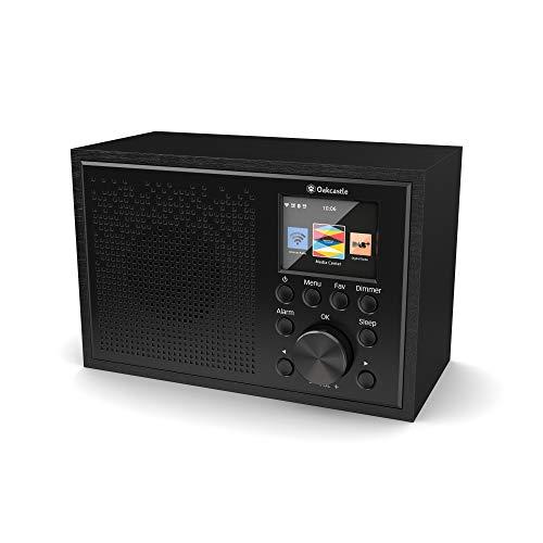 Oakcastle IR100 DAB Plus Radio/WLAN-radio met Bluetooth, Spotify Connect, dubbele wekker, line-in, app-besturing en kleurendisplay